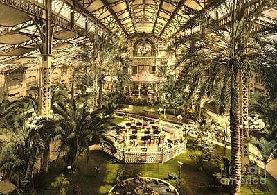 Riviera Winter Garden In Nice Poster by Padre Art