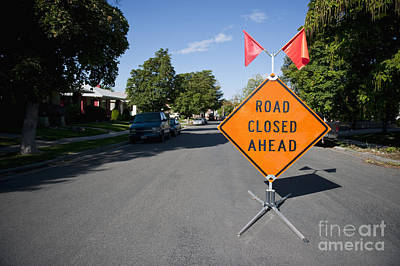 Road Closed Sign Poster by Thom Gourley/Flatbread Images, LLC