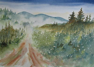 Road Through The Hills Poster by Ramona Kraemer-Dobson