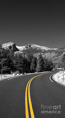 Road To The Rockies Poster by Holger Ostwald