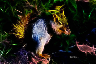 Robbie The Squirrel - 7839 - Fractal Poster