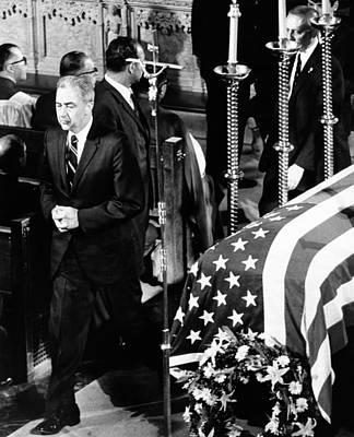 Robert Kennedys Funeral. Senator Eugene Poster by Everett
