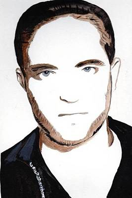 Poster featuring the painting Robert Pattinson 10 by Audrey Pollitt
