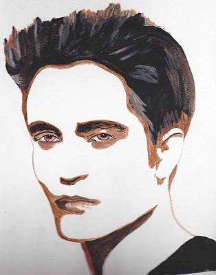 Poster featuring the painting Robert Pattinson 12 by Audrey Pollitt