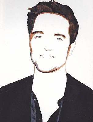 Poster featuring the painting Robert Pattinson 13 by Audrey Pollitt