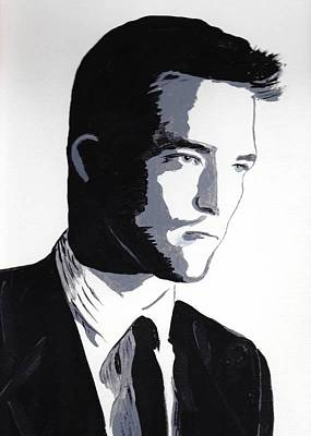 Poster featuring the painting Robert Pattinson 2 by Audrey Pollitt
