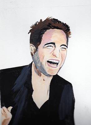 Poster featuring the painting Robert Pattinson 4 by Audrey Pollitt