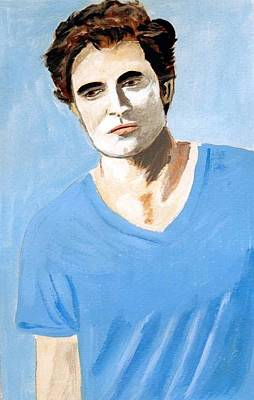 Poster featuring the painting Robert Pattinson 6 by Audrey Pollitt