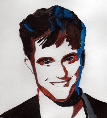 Poster featuring the painting Robert Pattinson 7 by Audrey Pollitt
