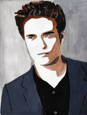 Poster featuring the painting Robert Pattinson 9 by Audrey Pollitt