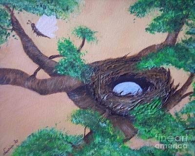 Poster featuring the painting Robin's Nest by Lucia Grilletto
