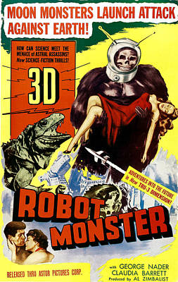 Robot Monster, Bottom, From Left George Poster by Everett
