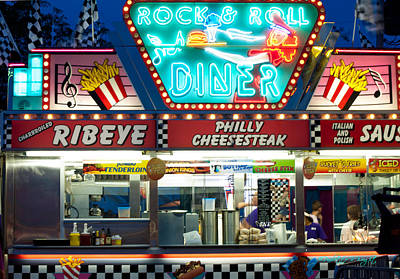 Rock And Roll Diner Poster