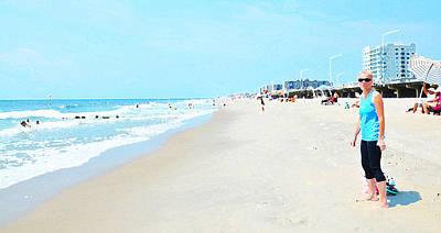 Poster featuring the photograph Rockaway Beach Sparkle by Maureen E Ritter