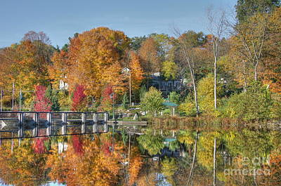 Rockford Michigan In Fall Poster