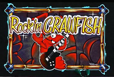 Rockin Crawfish Sign Poster