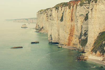 Rocks In Etretat, France Poster