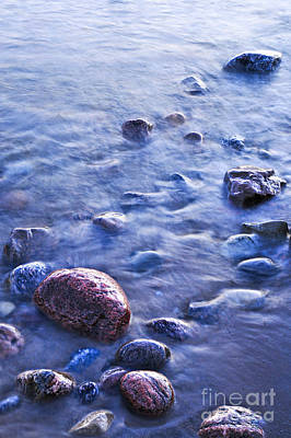Rocks In Water Poster