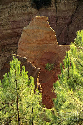 Rocks. Ochre.  Roussillon. Luberon. France. Europe Poster by Bernard Jaubert