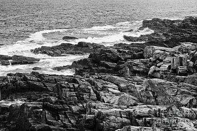 Rocky Coastline II - Black And White Poster