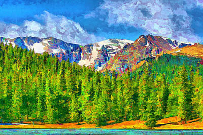 Poster featuring the digital art Rocky Mountain High by Brian Davis