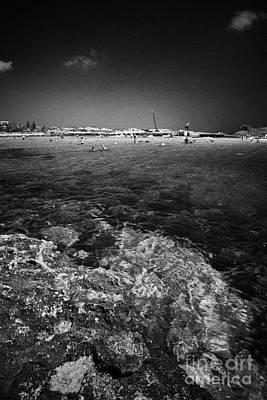 Rocky Shoreline At Nissi Beach Ayia Napa Republic Of Cyprus Europe Poster by Joe Fox