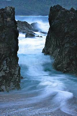 Poster featuring the photograph Rocky Waves by Scott Holmes
