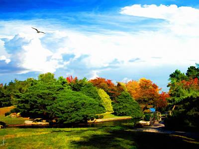 Roger Williams Park Japanese Garden Poster by Lourry Legarde
