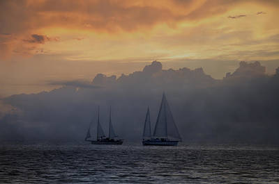 Rolling Fog Bank - Key West Poster by Bill Cannon