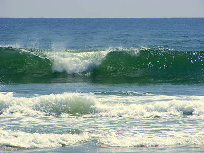Poster featuring the photograph Rolling Wave by Kelly Nowak