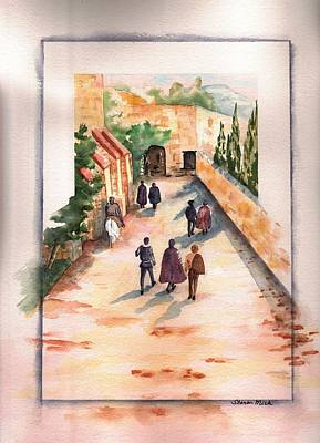 Poster featuring the painting Roman Avenue by Sharon Mick
