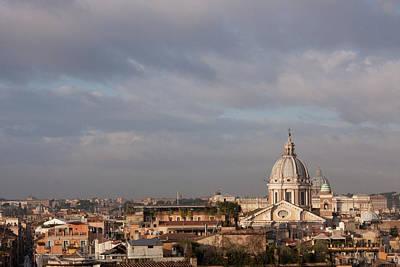 Roman Cityscape With Basilica Poster