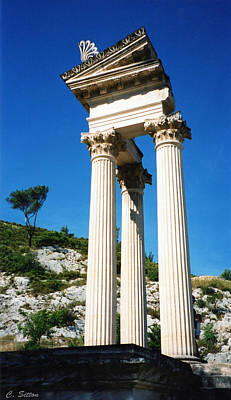 Poster featuring the photograph Roman Columns Of Glanum by C Sitton