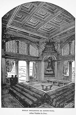 Roman Dining Hall Poster by Granger