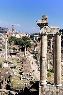 Roman Forum. Rome Poster by Bernard Jaubert