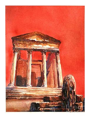 Roman Ruins- Tunisia Poster by Ryan Fox