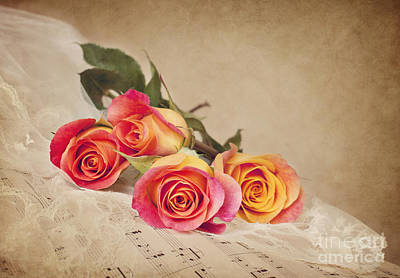 Poster featuring the photograph Romantic Music by Cheryl Davis