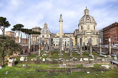 Rome - Forum Of Trajan Poster by Joana Kruse