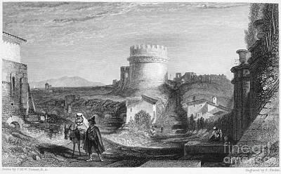 Rome: Appian Way, 1833 Poster