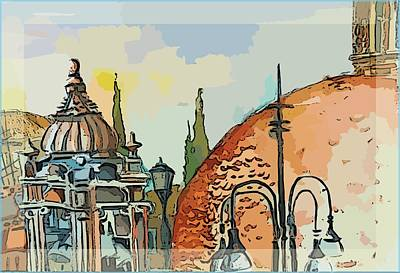 Rome In The Santa Maria Del Populo Poster by Mindy Newman
