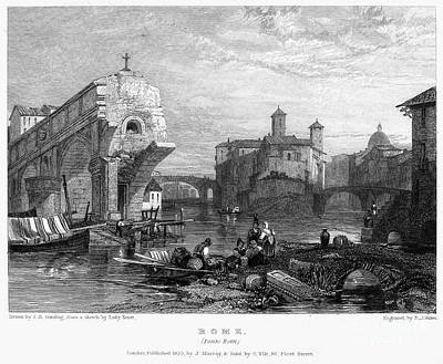 Rome: Ponte Rotto, 1833 Poster