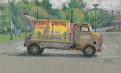 Ronnie John's Beach Cafe Poster by Donald Maier