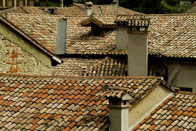 Rooftops Covered With Terra Cotta Roof Poster