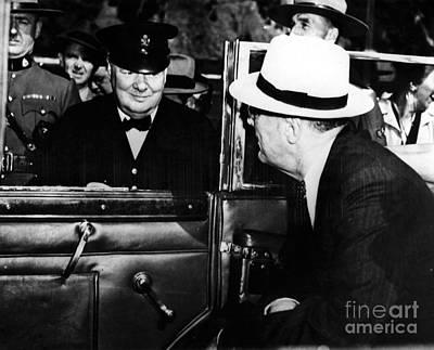 Roosevelt & Churchill, 1944 Poster by Granger