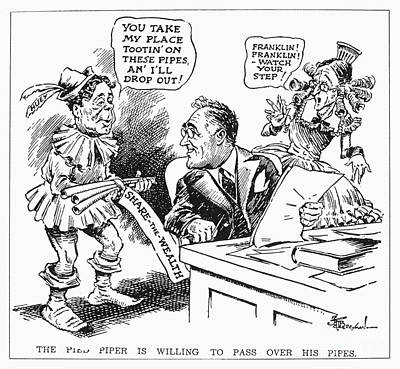 Roosevelt Cartoon, 1934 Poster