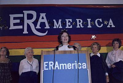 Rosalynn Carter Speaking In Support Poster