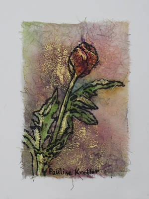 Poster featuring the painting Rose Bud by Pauline  Kretler