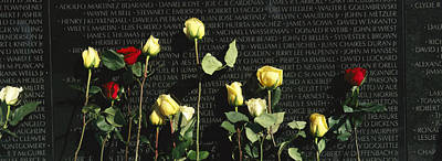 Roses Are Left At The Vietnam Veterans Poster