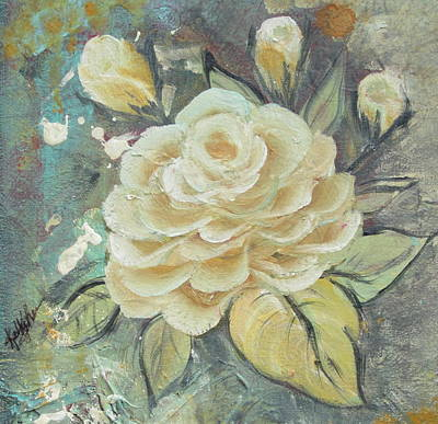 Poster featuring the painting Rosey by Kathy Sheeran