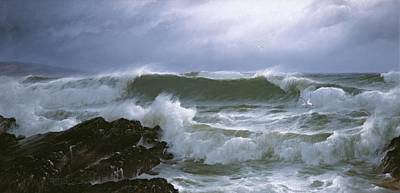 Rough Sea Poster by David James